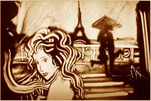 """Арт-группа """"Горячий шоколад"""" увлечет маленьких зрителей в волшебный мир сказки, используя песок и стекло. Фото// eka-prazdnik.ru"""